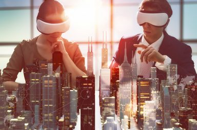 virtual reality, VR, education, healthcare, business and virtual reality